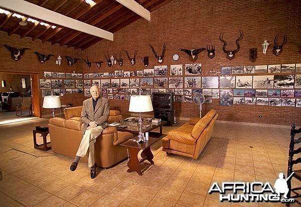 Jorge Alves de Lima in his trophy room