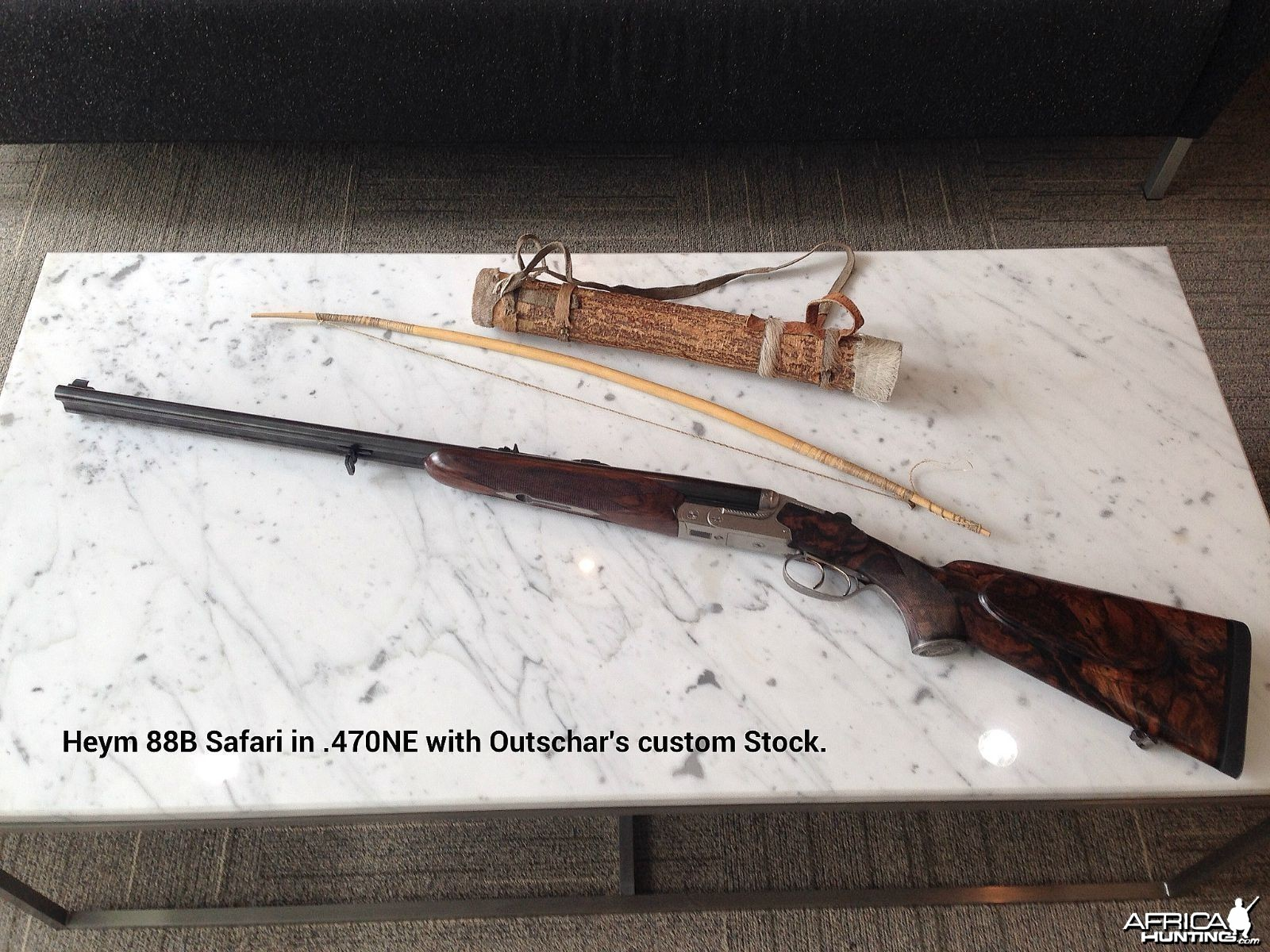 Heym 88B Safari in .470NE with Outschar's Custom Stock