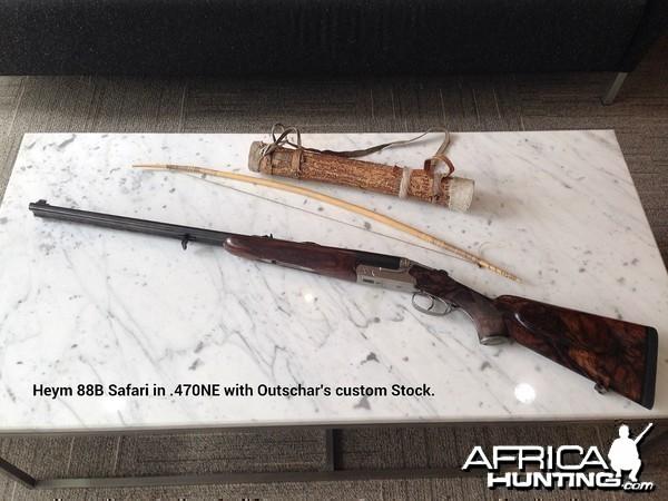 Heym 88B Safari in .470NE with Outschar's Custom Stock