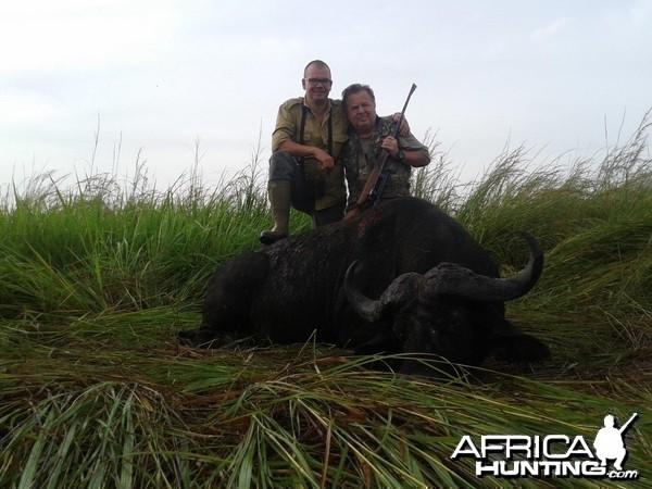 Hunting Uganda Nile buffalo