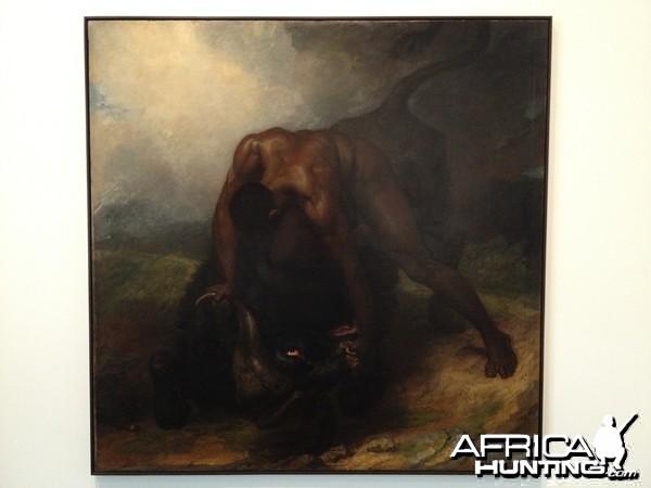 Buffalo painting by George Dawe