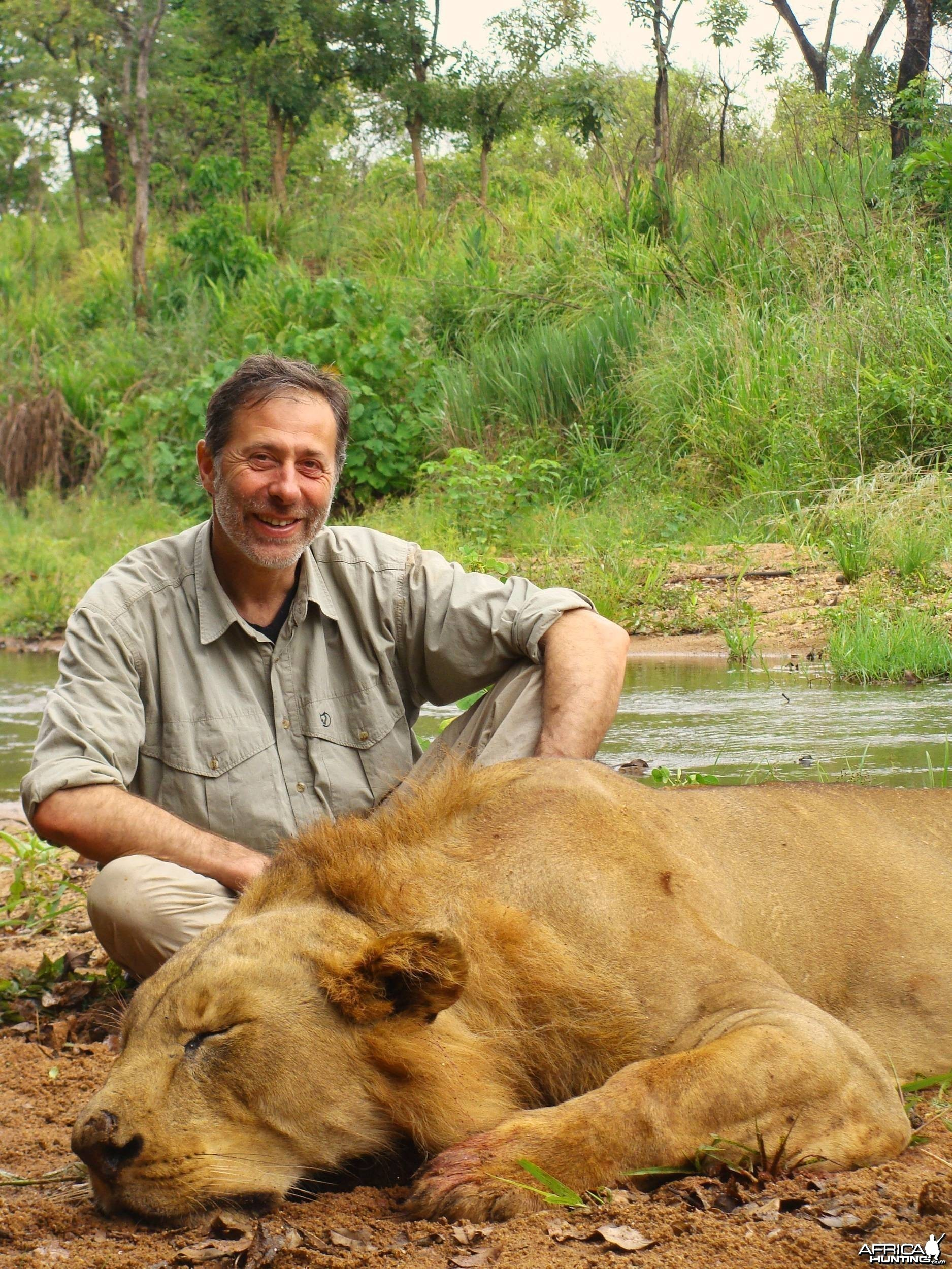 Hunting Lion by Call in Africa