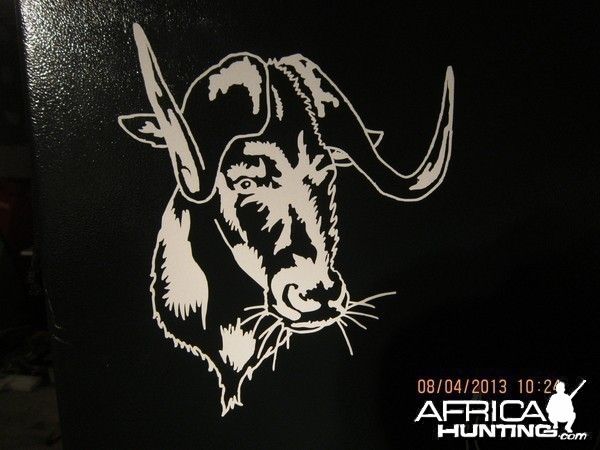 Black Wildebeest Decal Stickers