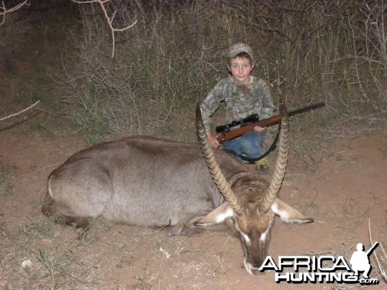 This is my god son with his waterbuck what a trip
