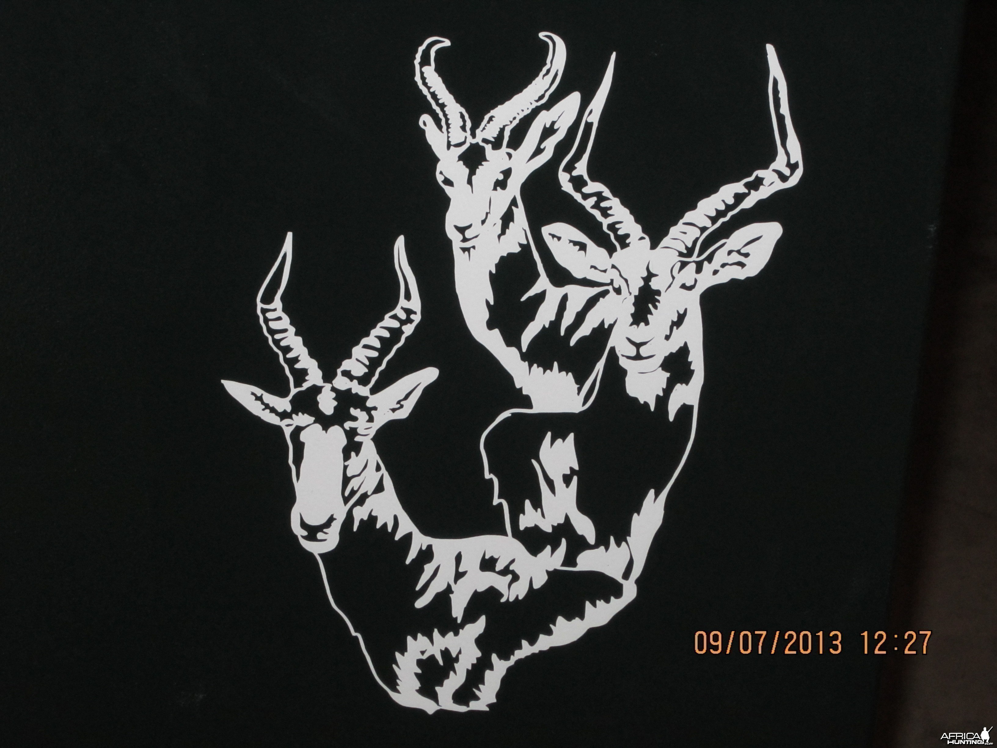 Springbok Impala Blesbok Decal Stickers