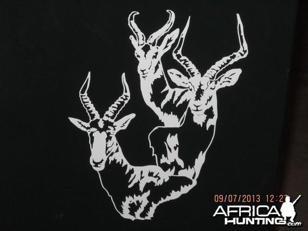 Springbok Impala Blesbok Decal Stickers