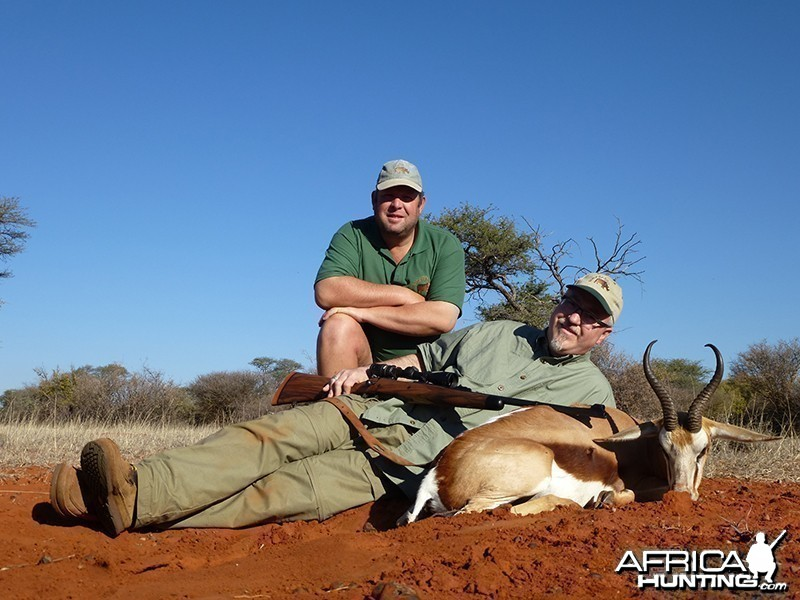 Springbok hunt with Wintershoek Johnny Vivier Safaris
