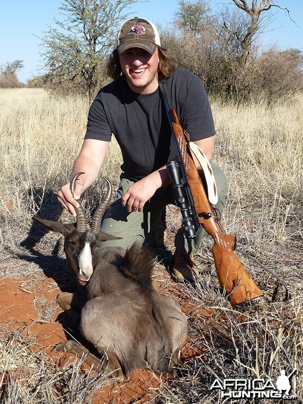 Black Springbok hunt with Wintershoek Johnny Vivier Safaris