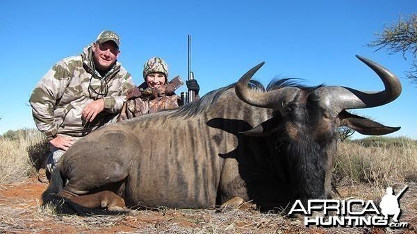 Blue Wildebeest hunt with Wintershoek Johnny Vivier Safaris