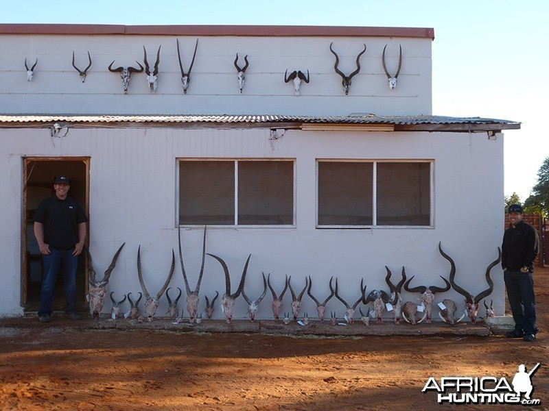 Trophies with Wintershoek Johnny Vivier Safaris
