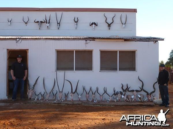 Trophies with Wintershoek Johnny Vivier Safaris