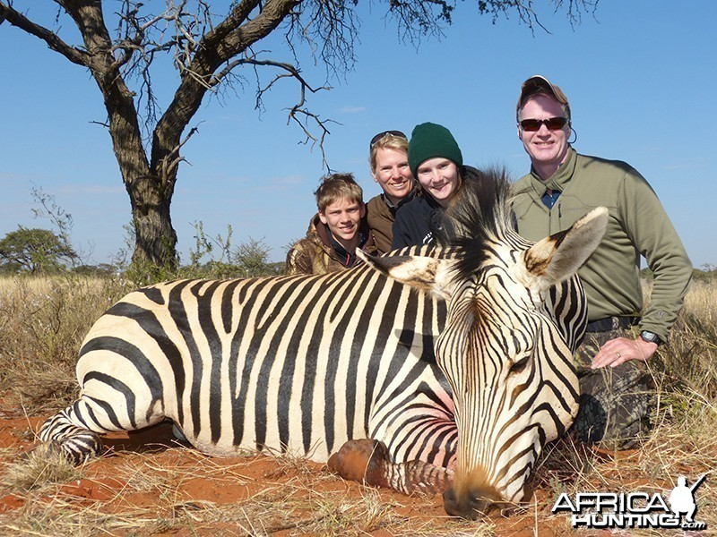 Zebra hunt with Wintershoek Johnny Vivier Safaris