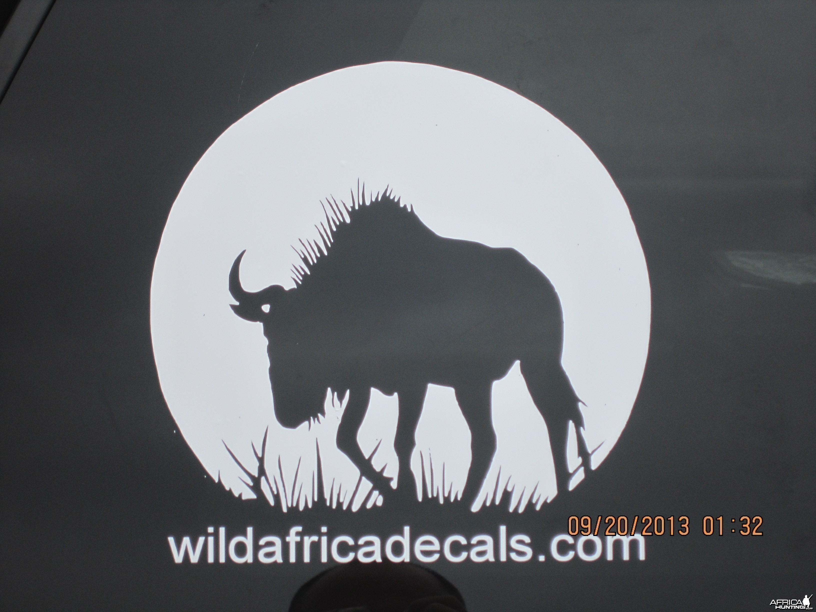 Silhouette Blue Wildebeest Decal Stickers