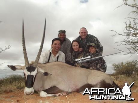 Gemsbok hunt with Wintershoek Johnny Vivier Safaris