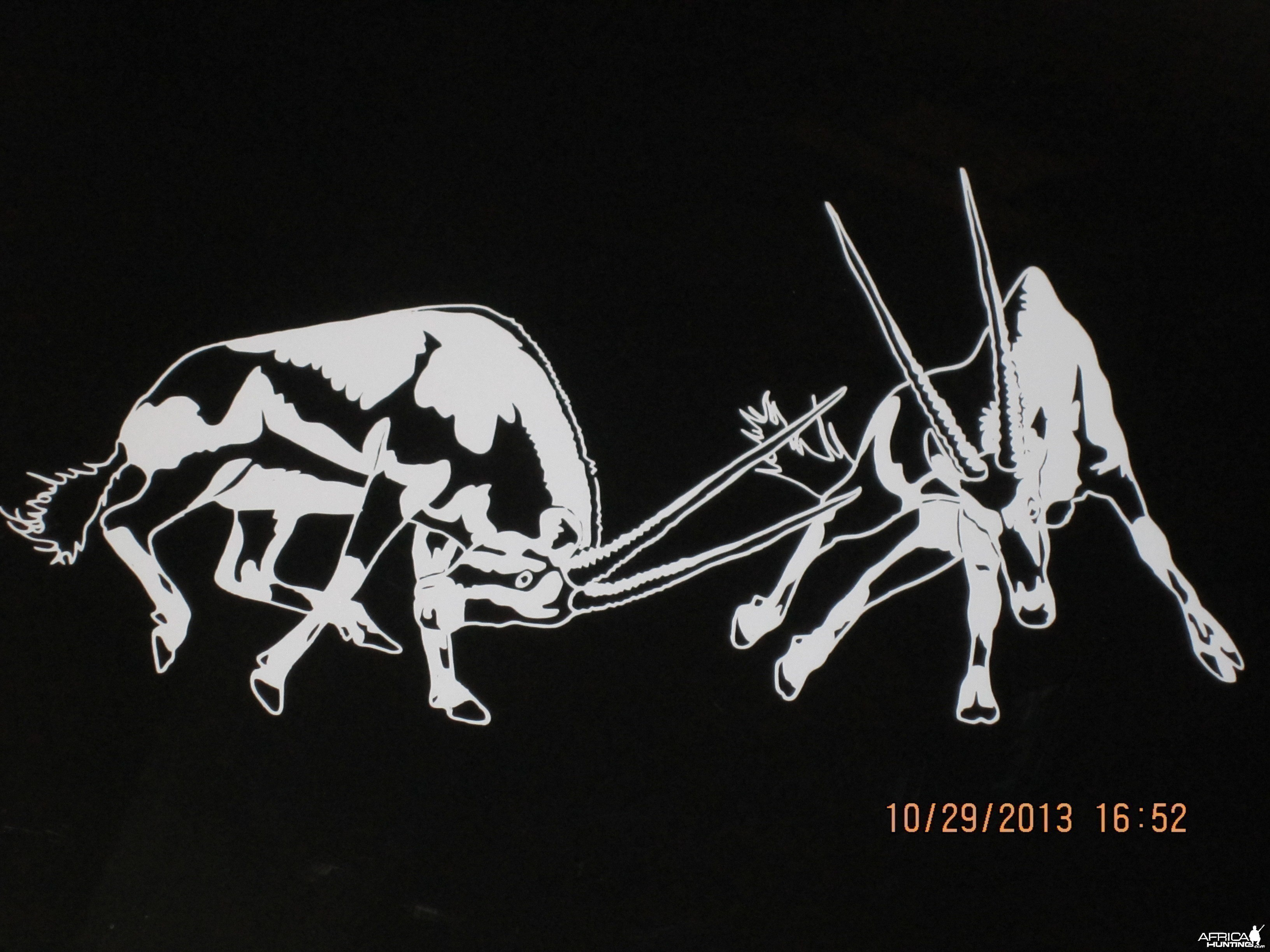 Fighting Gemsbok Decal Stickers