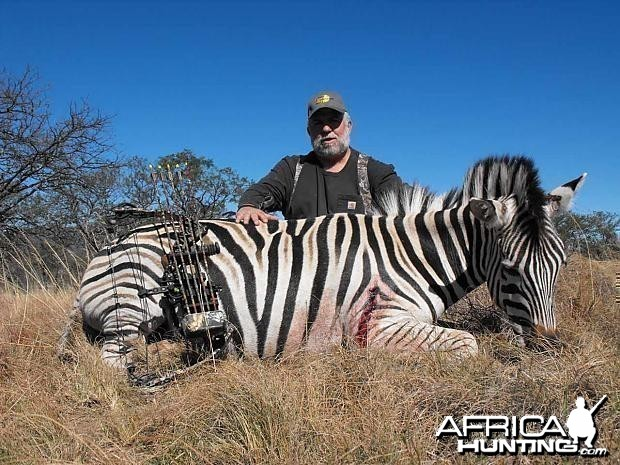Bowhunting Zebra South Africa