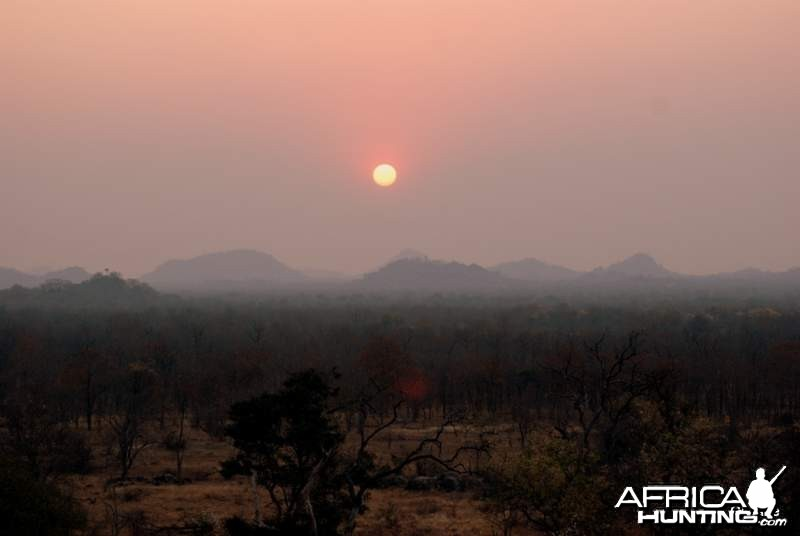 Sunset in Senuko, Zimbabwe
