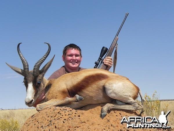 Copper Springbok hunt with Wintershoek Johnny Vivier Safaris