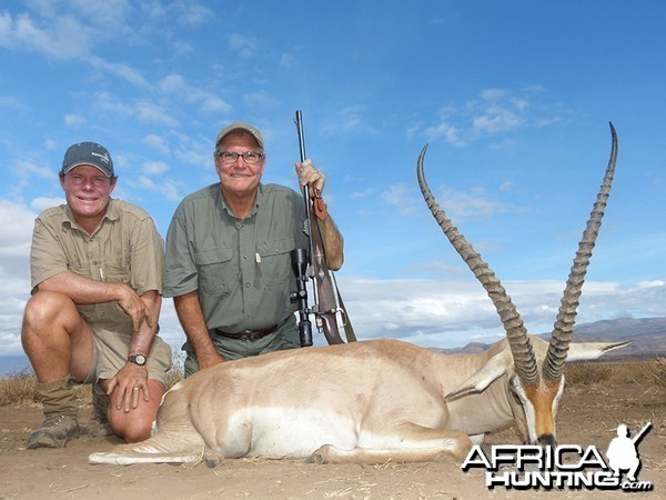 Grants Gazelle hunt with Wintershoek Johnny Vivier Safaris