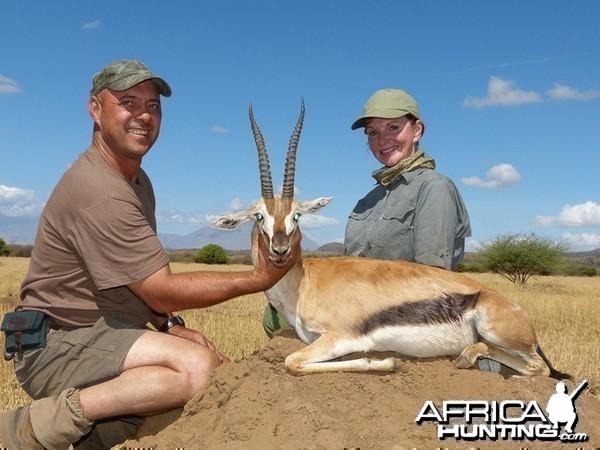 Thompson Gazelle hunt with Wintershoek Johnny Vivier Safaris