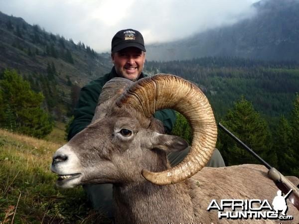 Hunting Big Horn Sheep in Southern British Columbia Canada