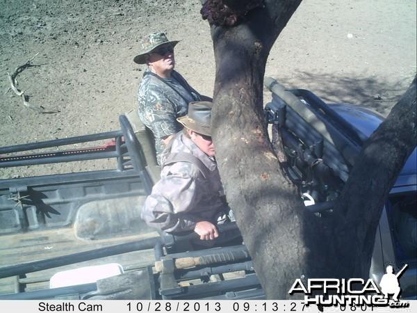 Checking Leopard Bait Trail Camera