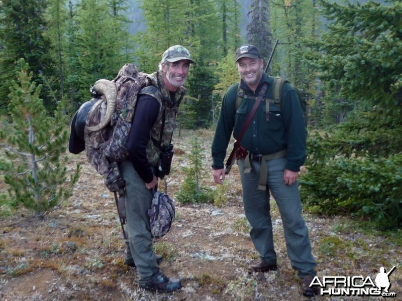 Hunting Big Horn Sheep in Southern British Columbia Canada