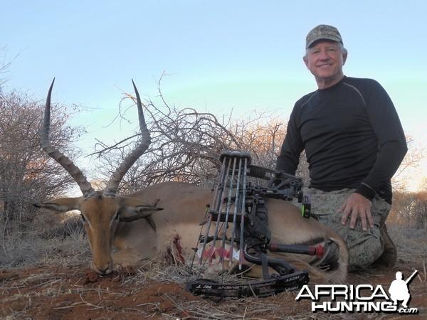 Impala hunted with Ozondjahe Hunting Safaris in Namibia