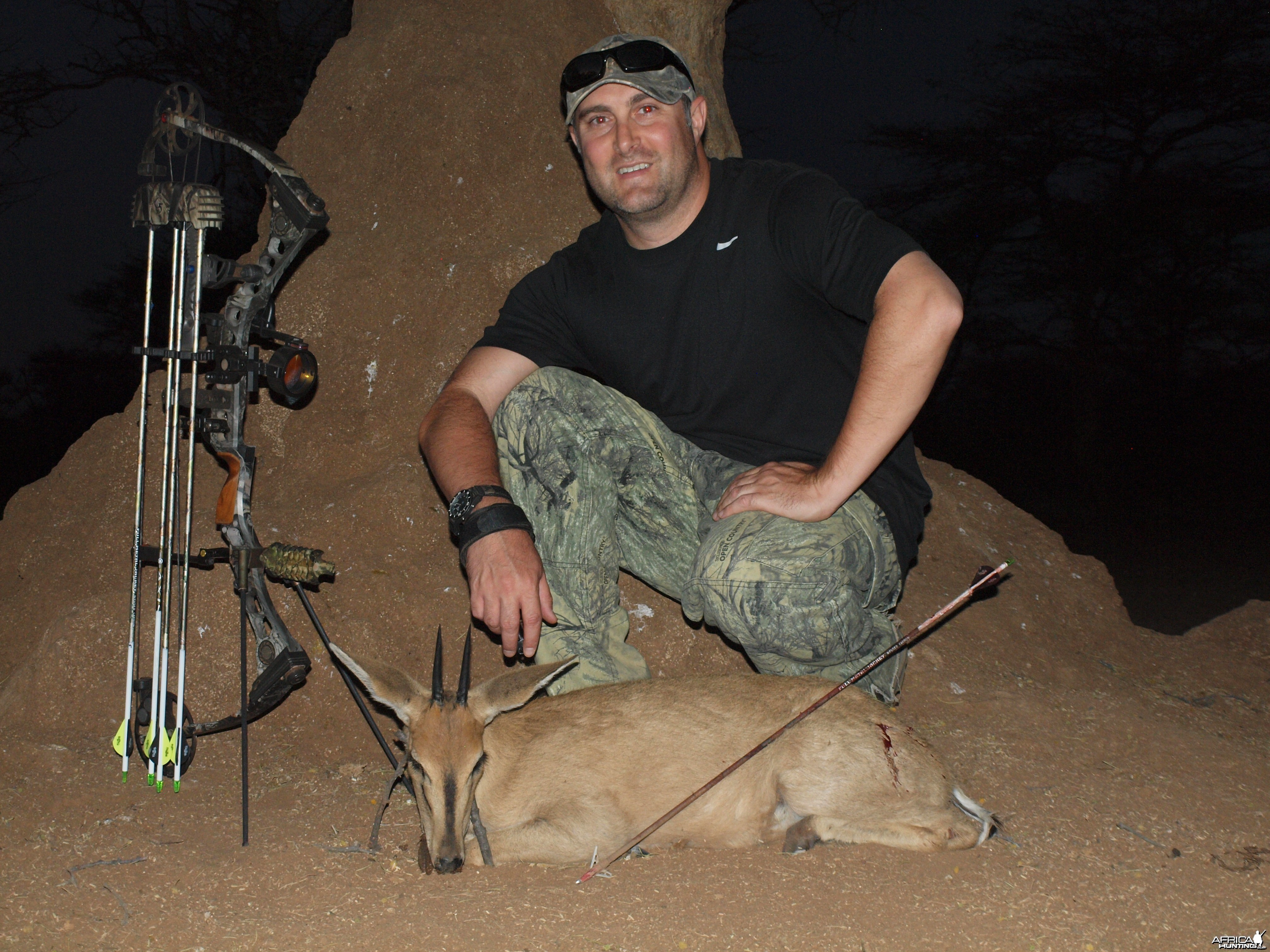 Gray Duiker hunted with Ozondjahe Hunting Safaris in Namibia