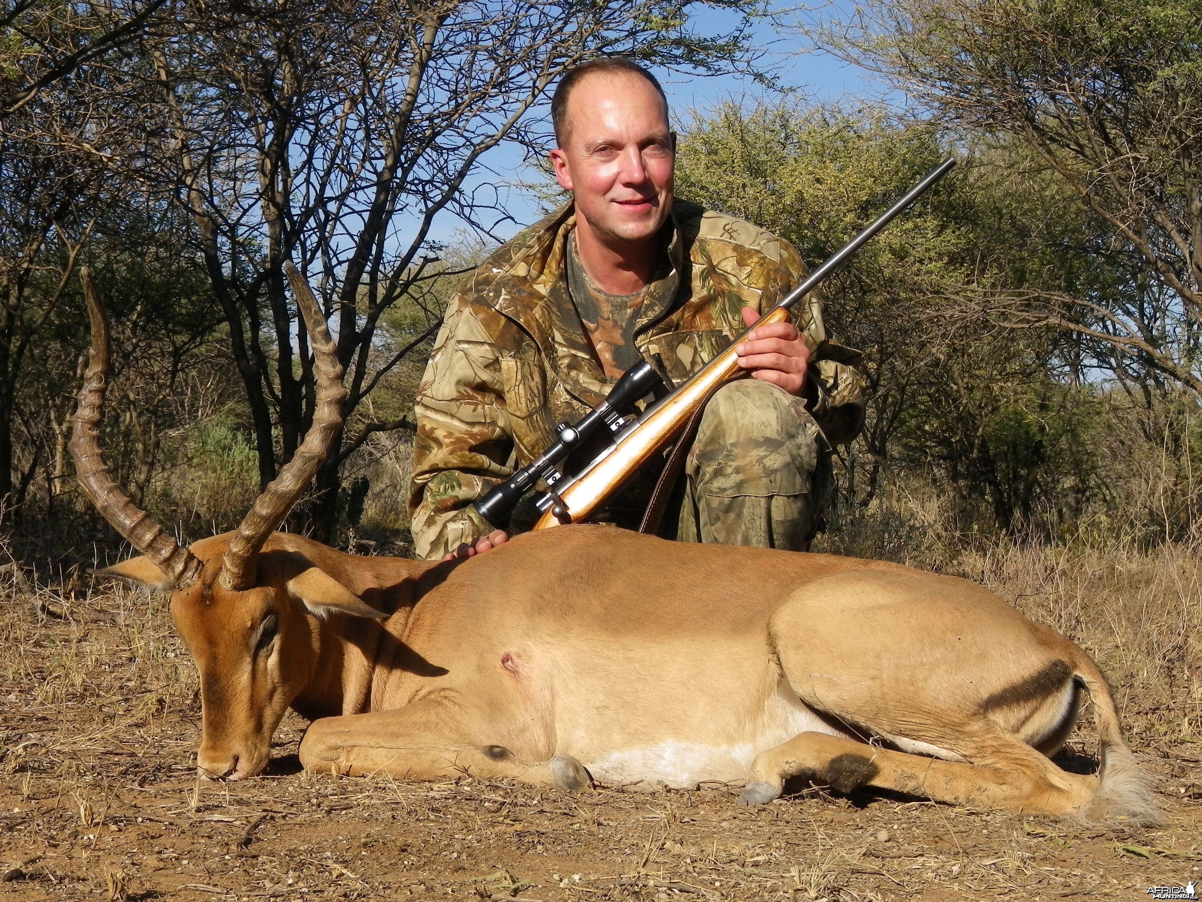 Impala hunted with Ozondjahe Hunting Safaris in Namibia
