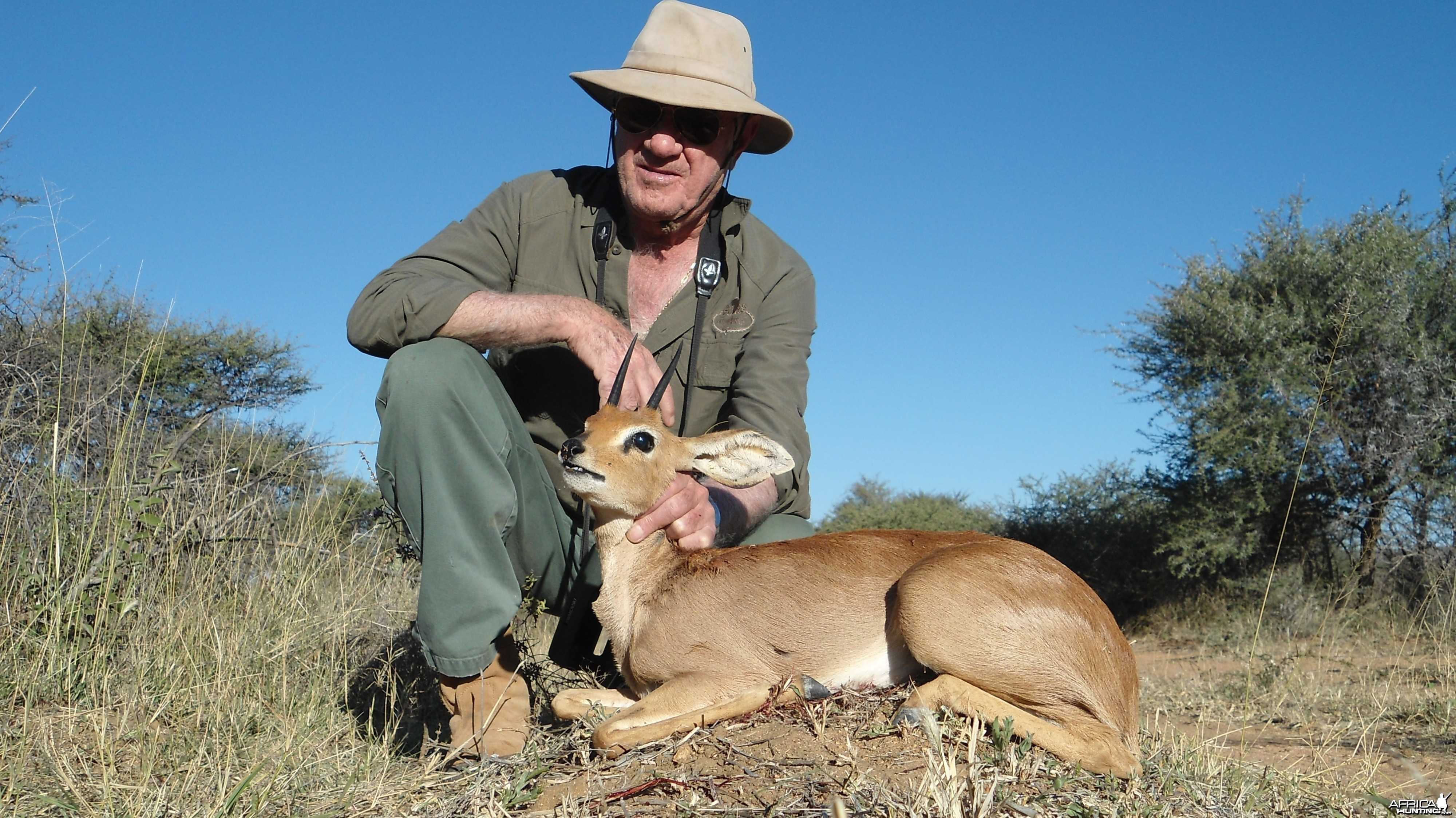 Steenbok hunted with Ozondjahe Hunting Safaris in Namibia