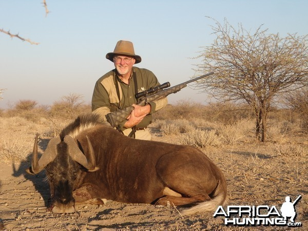 Black Wildebeest hunted with Ozondjahe Hunting Safaris in Namibia
