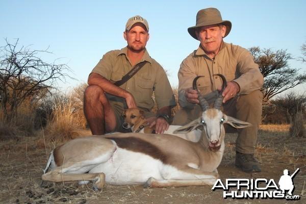 Springbok hunted with Ozondjahe Hunting Safaris in Namibia