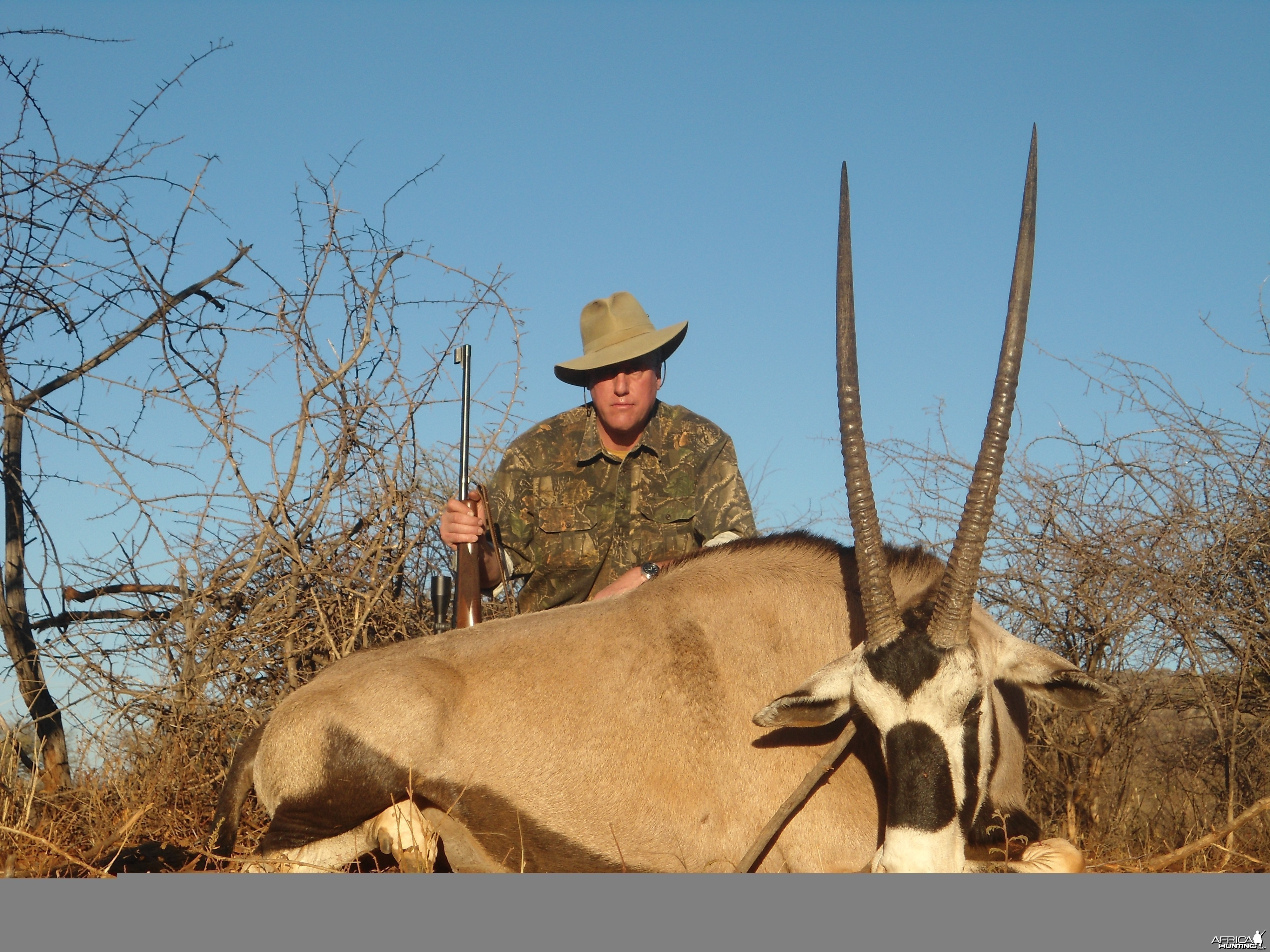 Gemsbok hunted with Ozondjahe Hunting Safaris in Namibia