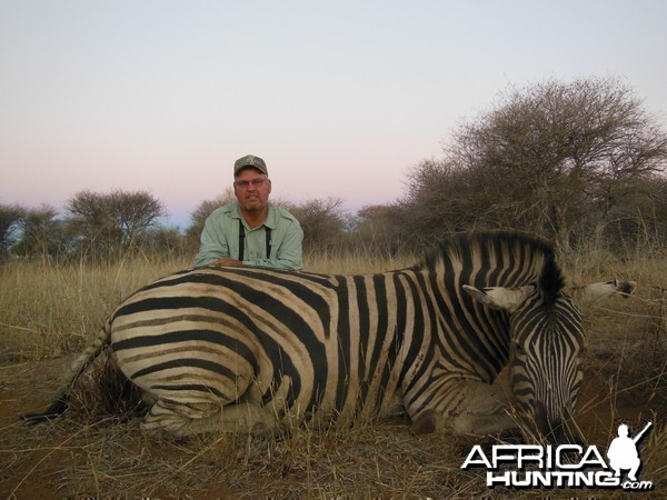 Burchell's Zebra hunted with Ozondjahe Hunting Safaris in Namibia