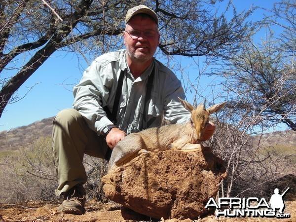 Damara Dik-Dik hunted with Ozondjahe Hunting Safaris in Namibia