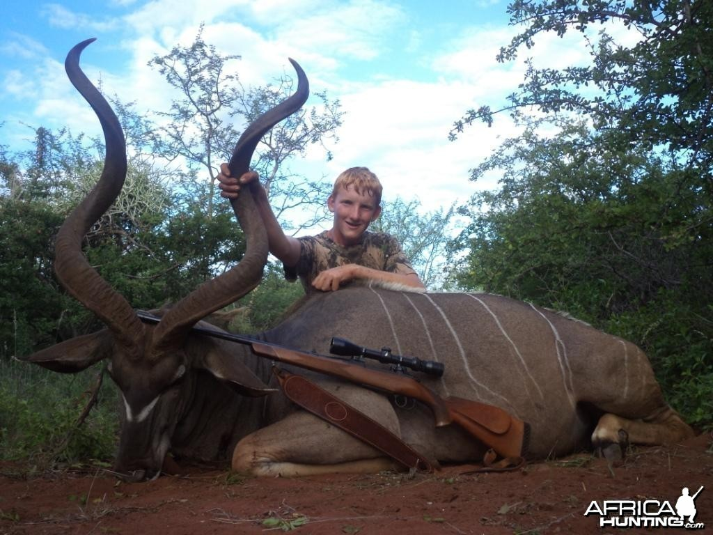 55'' kudu bull. King's Kloof.