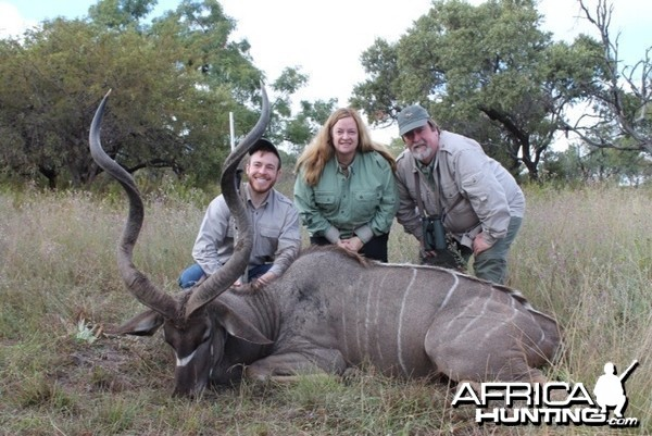 Son and wife with his Kudu