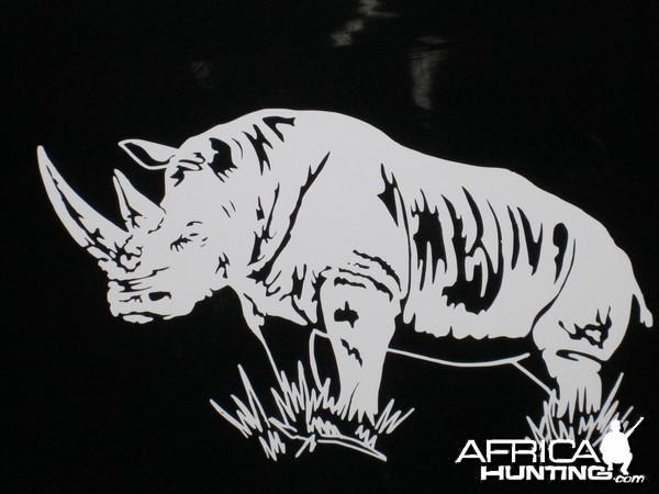 White Rhino Decal Stickers