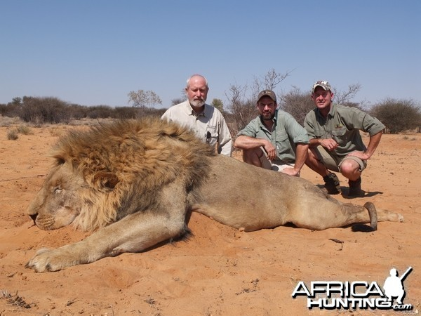 Lion hunt with Total African Safaris