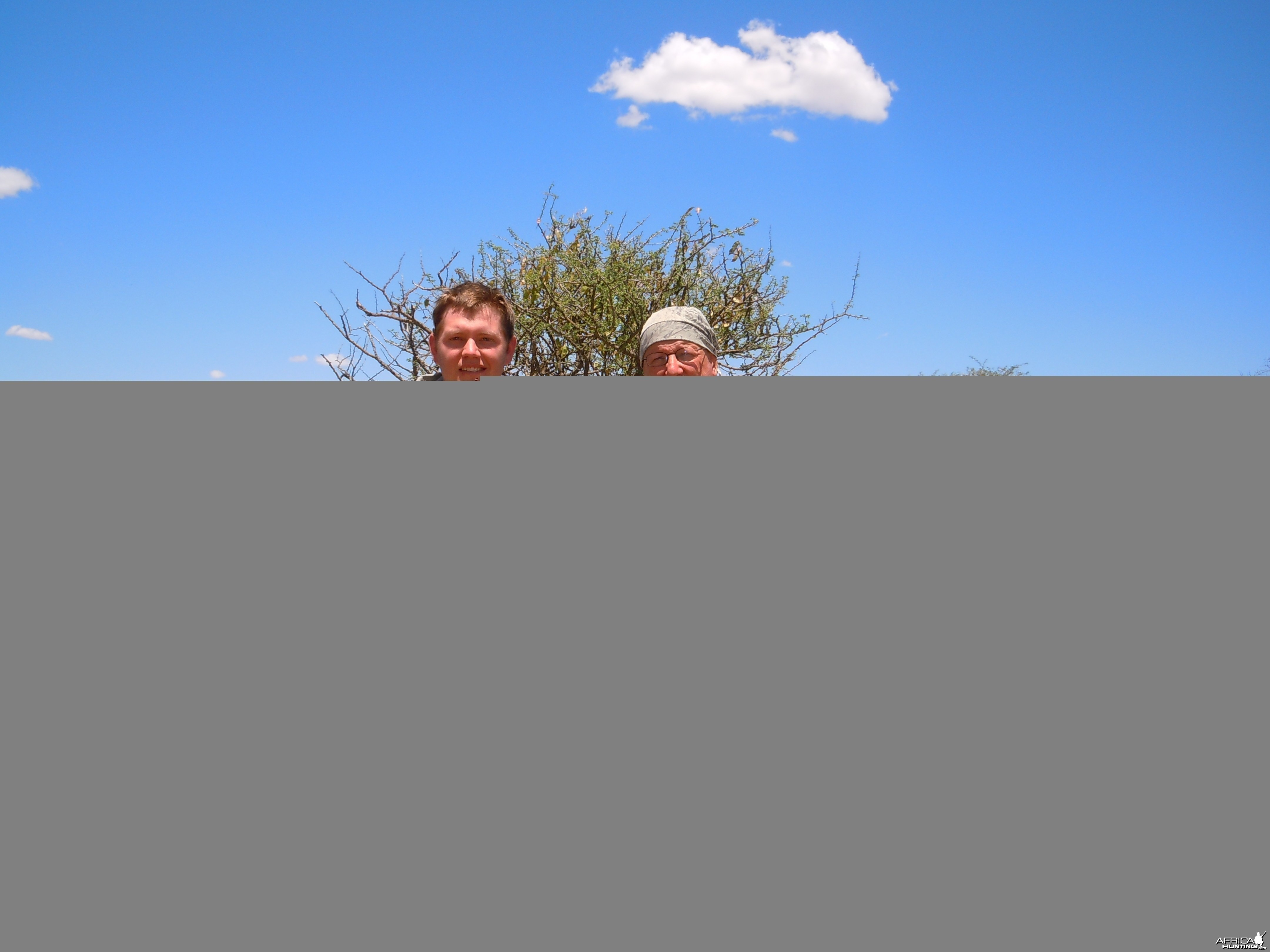 My PH , Evert and I with Blue Wildebeest
