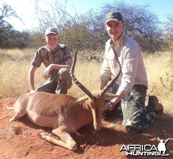"""24 """" Impala shot by a client at Harmonie Safari's."""