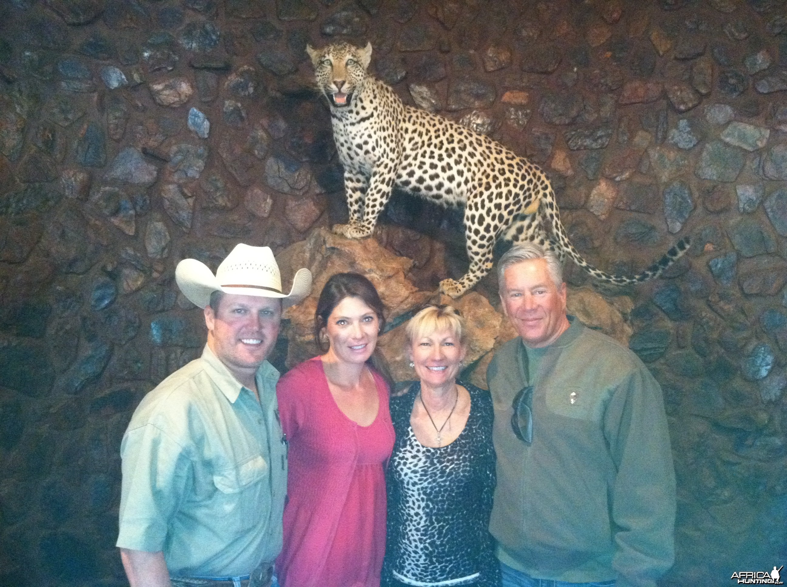 Bob, Erin, Teri & I in the Limcroma Lodge