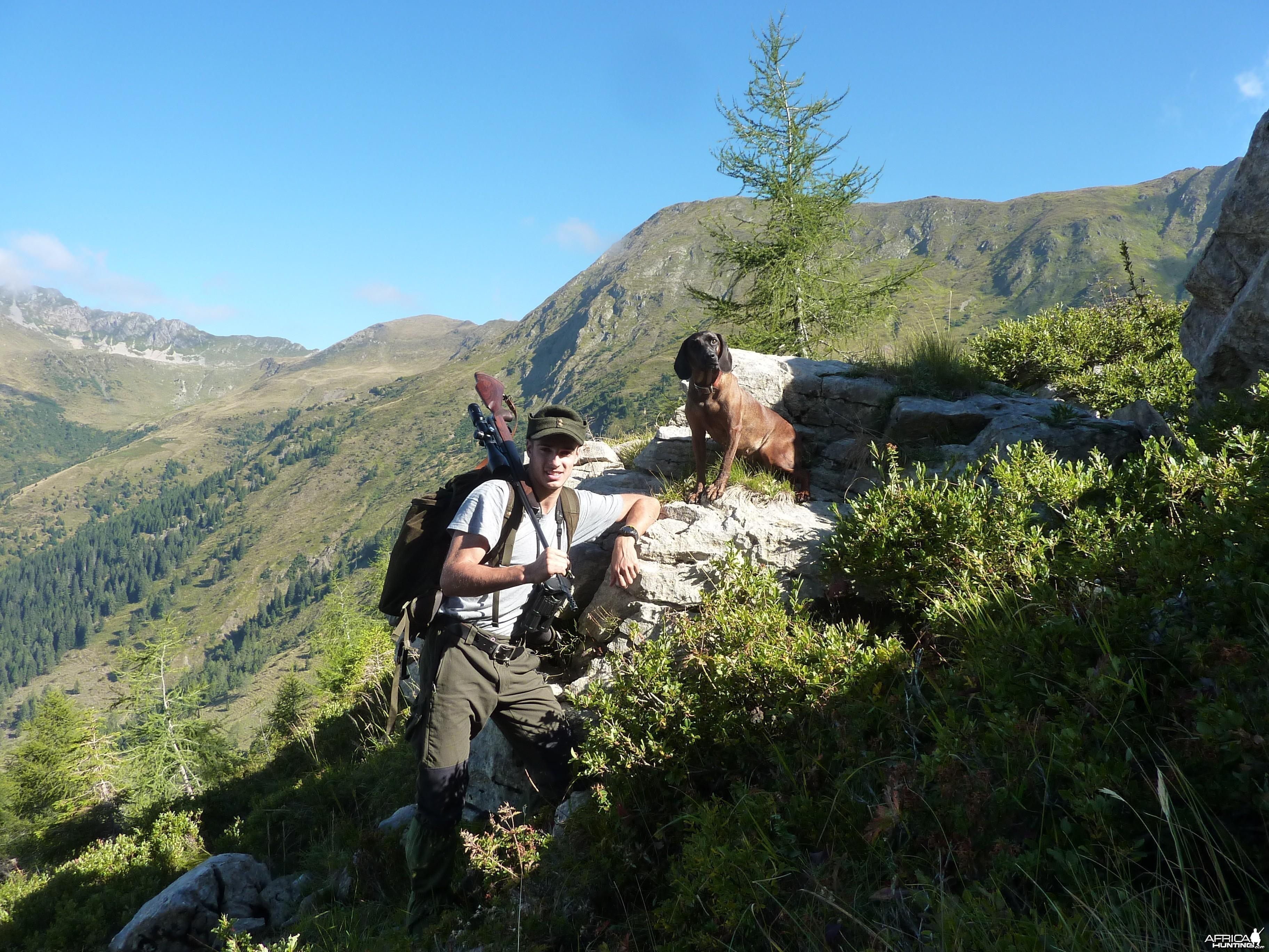 Hunt in the Italian Alps