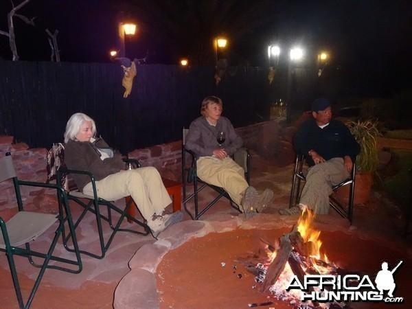Moira, Lucy, Paul at Kowas bush TV