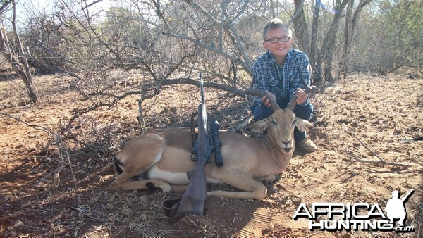 My Little man with Impala shot with .303