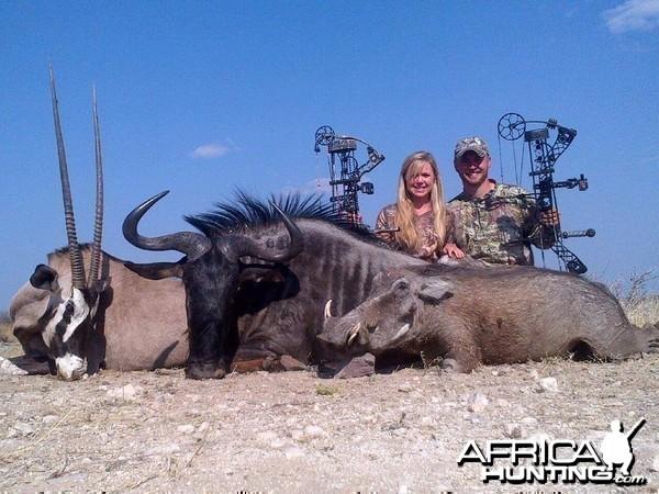 Gemsbok Wildebeest Warthog