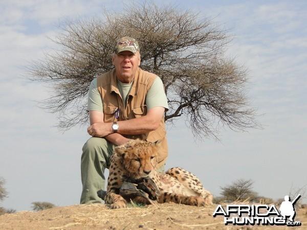 Hunting Cheetah at Ozondjahe Hunting Safaris in Namibia