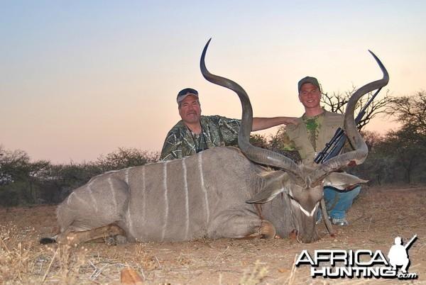 "63"" Kudu bull in South Africa"