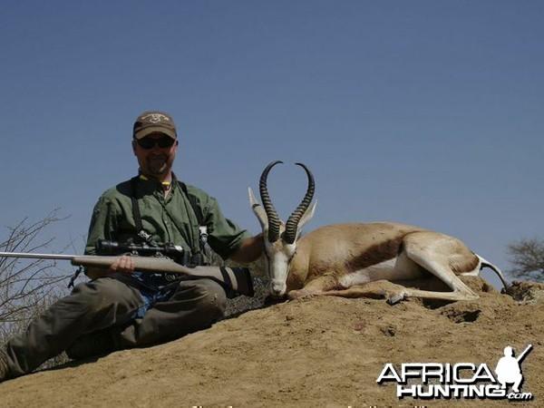 Springbok hunted at Westfalen Hunting Safaris Namibia